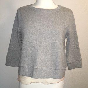 NWOT Dance & Marvel Cropped sweater open back SM